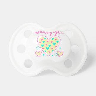 lovely girl heart cool design pacifier