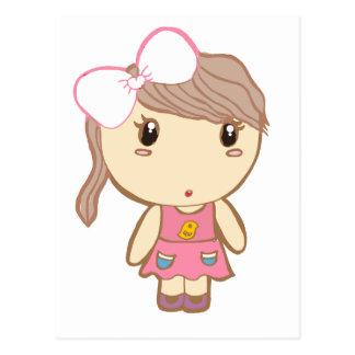 lovely girl postcard