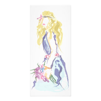Lovely girl full color rack card