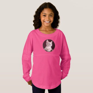 Lovely Girls' Spirit Jersey Shirt In Kitty Design