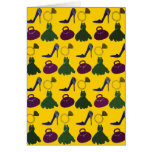 Lovely Girly Apparel Pattern Greeting Card