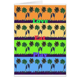 Lovely Girly Hakuna Matata colors Gifts.png Greeting Card