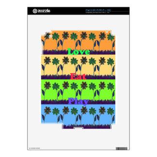 Lovely Girly Hakuna Matata colors Gifts.png Skin For iPad 2