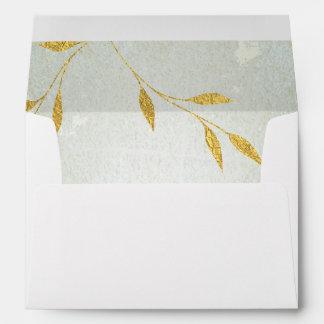 Lovely Gold Foil Gold Leaf-effect Inside Lined Envelope