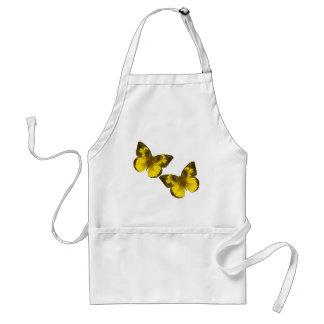 Lovely Golden Butterflies Adult Apron