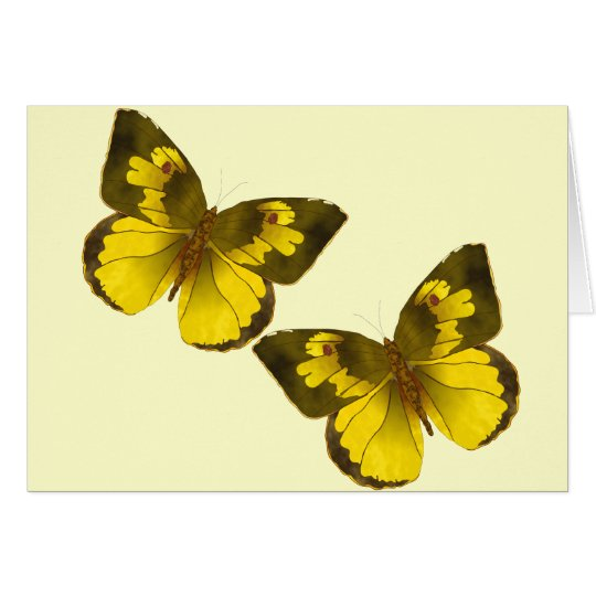 Lovely Golden Butterflies Card