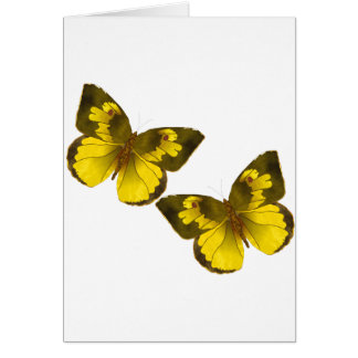 Lovely Golden Butterflies Card