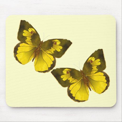 Lovely Golden Butterflies Mouse Pad