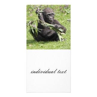 Lovely Gorilla Baby Photo Card