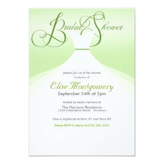 Lovely Gown Bridal Shower Invitations