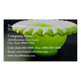 Lovely green bowl business card template