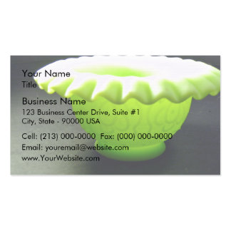 Lovely green bowl business card templates