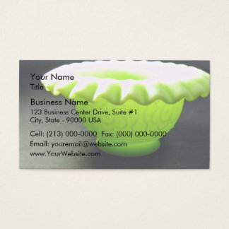 Lovely green bowl business card