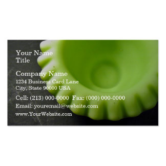 Lovely Green Swirl Serving Bowl Business Card Template