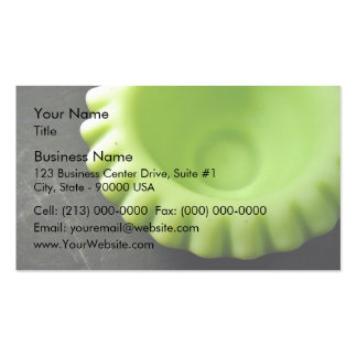 Lovely Green Swirl Serving Bowl Business Cards
