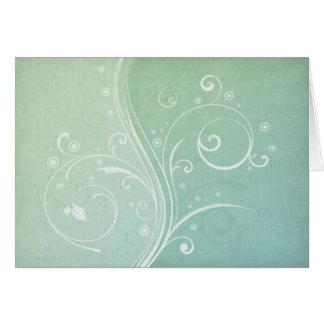 Lovely Green Swirls Card