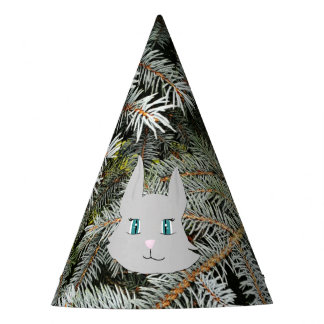 Lovely grey cat | party hat