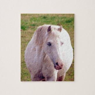 Lovely Grey Pony Jigsaw Puzzle