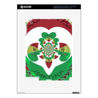 Lovely Hakuna Matata I love Ethiopia Hearts Colors iPad 3 Skins