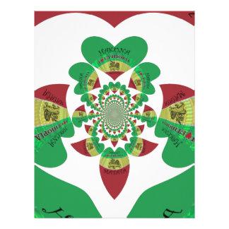 Lovely Hakuna Matata I love Ethiopia Hearts Colors Letterhead
