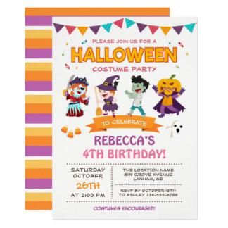 Lovely Halloween Kids Costume Party Invitation