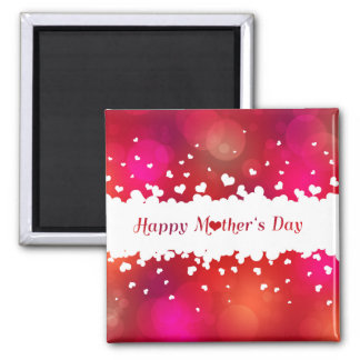 Lovely Happy Mother's Day Hearts - Magnet
