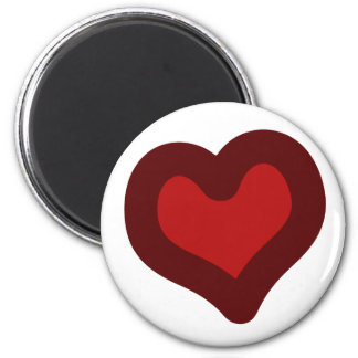 Lovely Heart 2 Inch Round Magnet