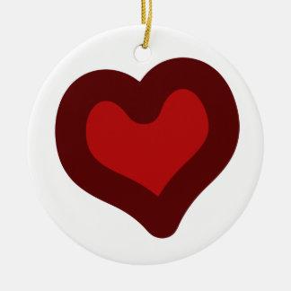 Lovely Heart Ceramic Ornament