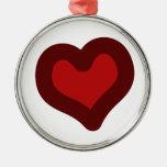 Lovely Heart Christmas Ornaments