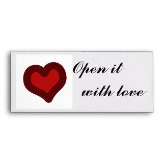 Lovely Heart Envelopes