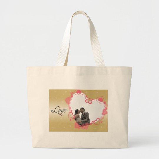 Lovely Heart Frame Large Tote Bag