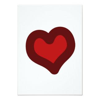 Lovely Heart 5x7 Paper Invitation Card