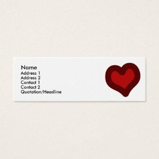 Lovely Heart Mini Business Card