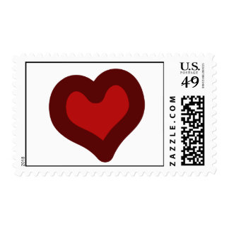 Lovely Heart Postage Stamps