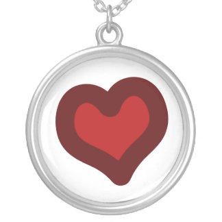 Lovely Heart Round Pendant Necklace