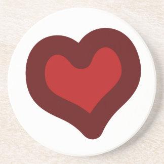 Lovely Heart Sandstone Coaster