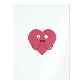lovely heart with face card