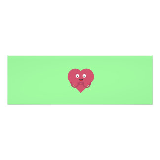 lovely heart with face photo print