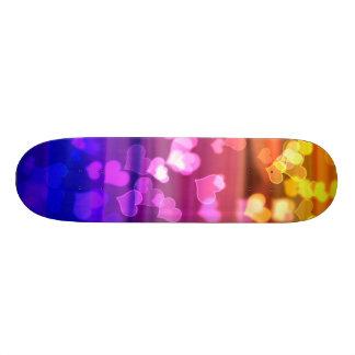 Lovely Hearts, Bokeh Skateboard Deck