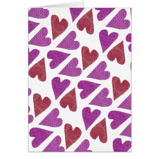 Lovely Hearts Custom Message Card