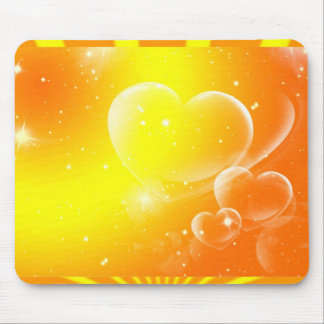 LOVELY HEARTS MOUSE PAD