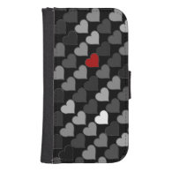 lovely hearts pattern phone wallet