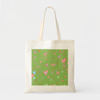 Lovely Hearts Pattern Tote Bag