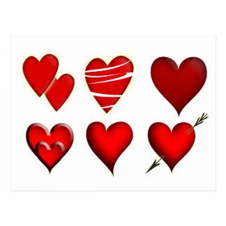 Lovely hearts postcard Design