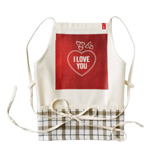 lovely Hearts red Zazzle HEART Apron