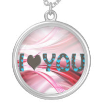 lovely hearts silver plated necklace