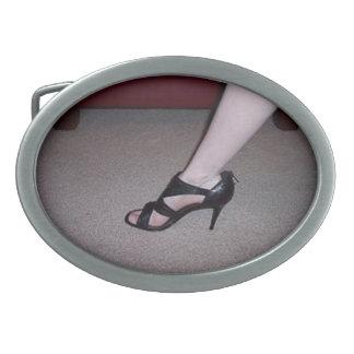 Lovely Heels Oval Belt Buckles