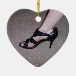 Lovely Heels Ceramic Ornament