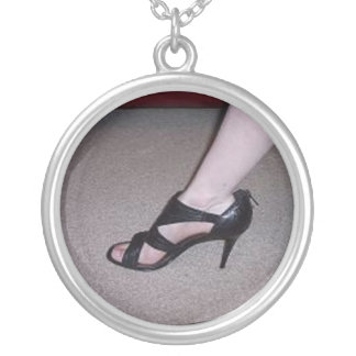 Lovely Heels Silver Plated Necklace