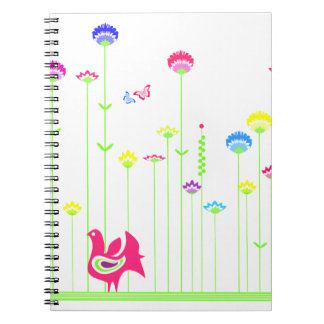 Lovely hen and flowers Notebook
